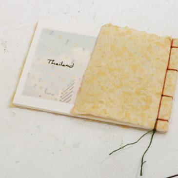 【アワガミ公募展2021・和紙のワークショップ】 ポストカード和綴じブック作り